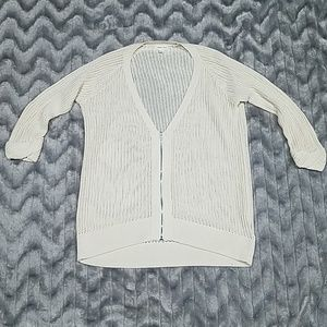 Urban Outfitters Silence + Noise Ivory Zip Sweater